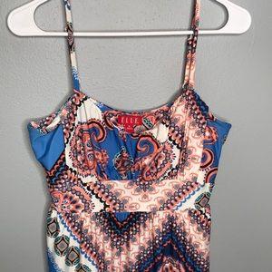 Elle | mixes print  maxi dress size medium